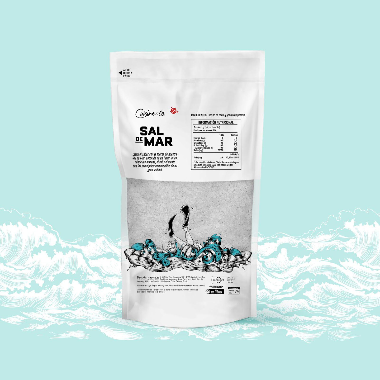 """Sal de Mar"" - Cuisine&co (sel de mer) I Design : DobleGiro, Chili (juin 2020)"