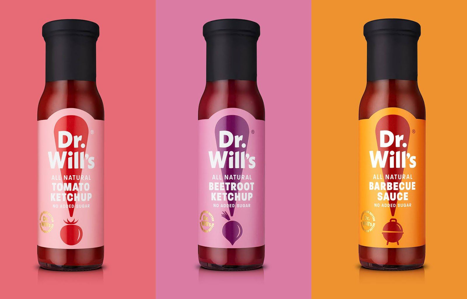 Dr Will's (sauces) I Design : B&B studio, Royaume-Uni (juin 2020)