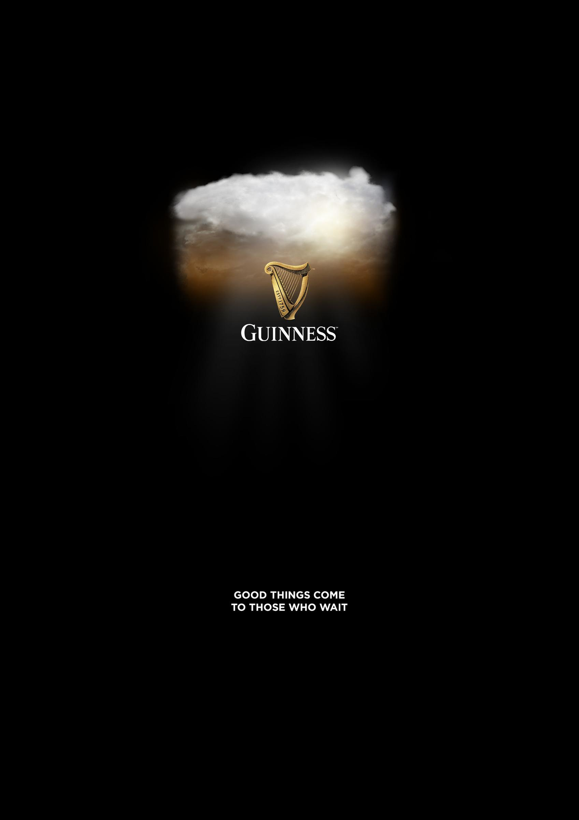 "Guinness : ""Good things come to those who wait"" (campagne lancée au sortir du confinement) I Agence : Wings CLL, Londres, Royaume-Uni (juin 2020)"