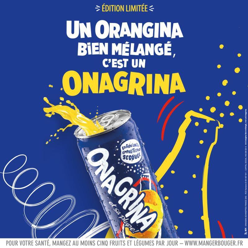"""Orangina secoue ses lettres et devient """"Onagrina"""" pendant 3 mois I Agence : BETC, Paris, France (juin 2020)"""