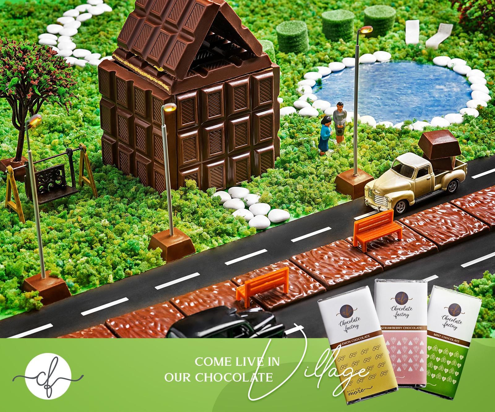 """Chocolate Factory : """"Come in live in our chocolate"""" I Agence : Artbox Studios, Le Caire, Egypte (juillet 2020)"""