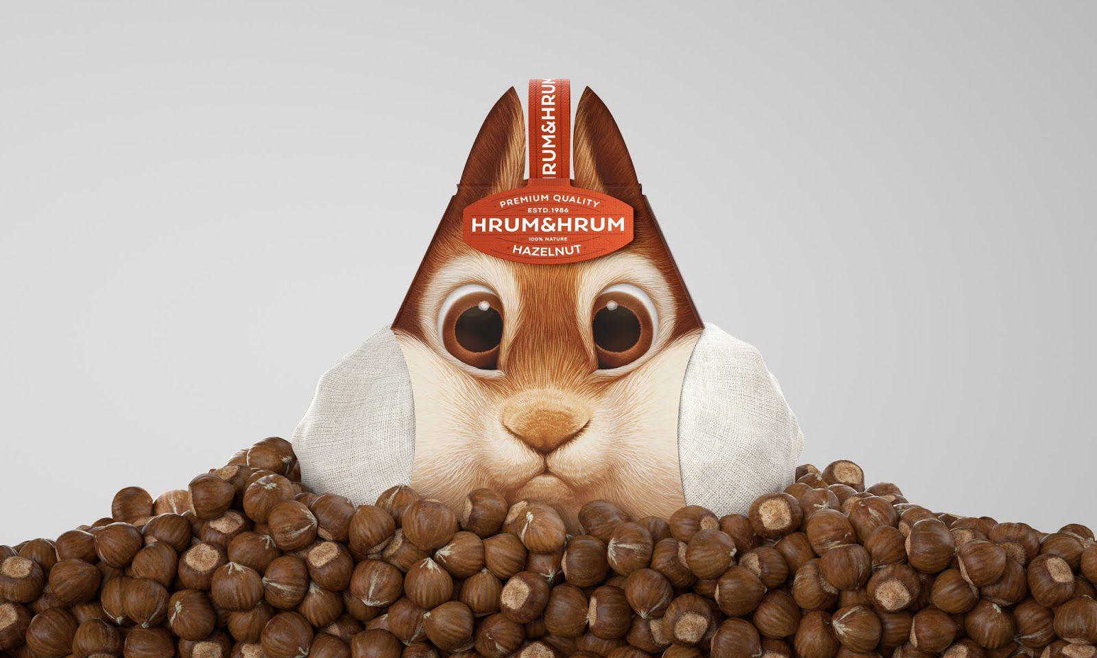 Hrum&Hrum (noisettes) I Design : Constantin Bolimond, Minsk, Biélorussie (juillet 2020)