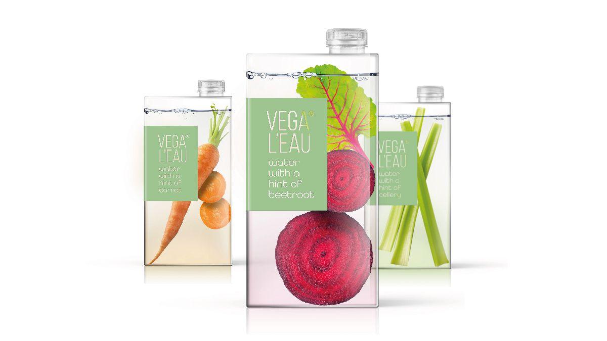 Vega L'eau (boisson infusée aux légumes) I Design (concept) : Anthem - Amsterdam & Brussels, Pays-Bas (juillet 2020)