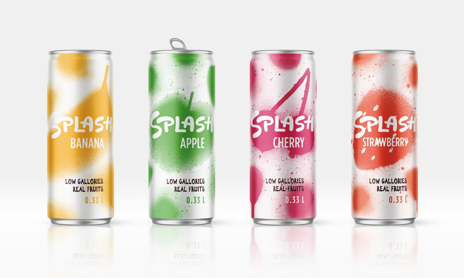 Splash (sodas à faible teneur en calories) I Design (projet étudiant) : Nikita Gavrilov (HSE Art and Design School), Russie (août 2020)