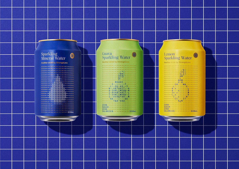 StrangeLove Water (eaux pétillantes) I Design : Marx, Nouvelle-Zélande (août 2020)