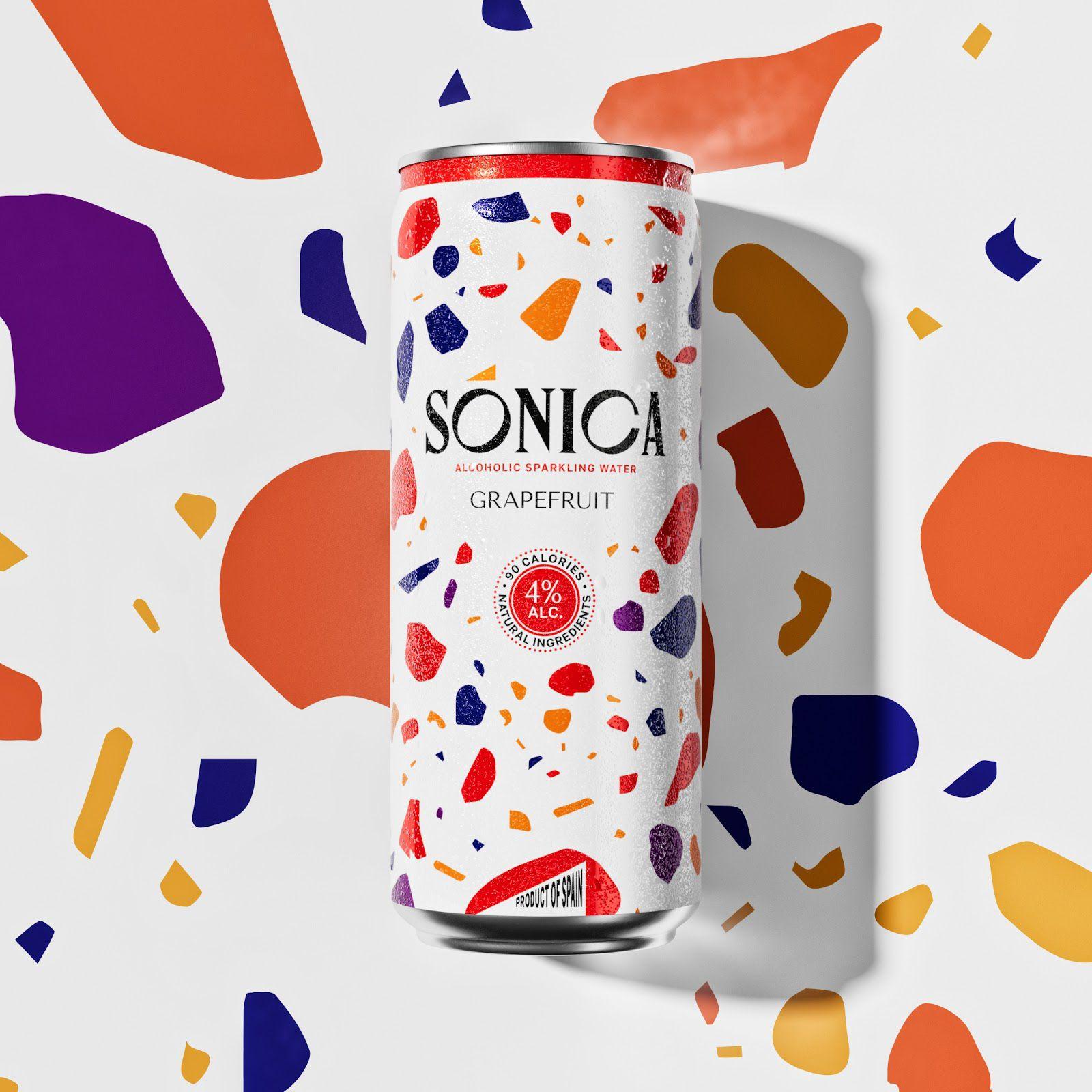 Sonica drinks (eau pétillante légèrement alcoolisée) I Design : Igor Borisenko et Pavel Sirota, Russie (août 2020)