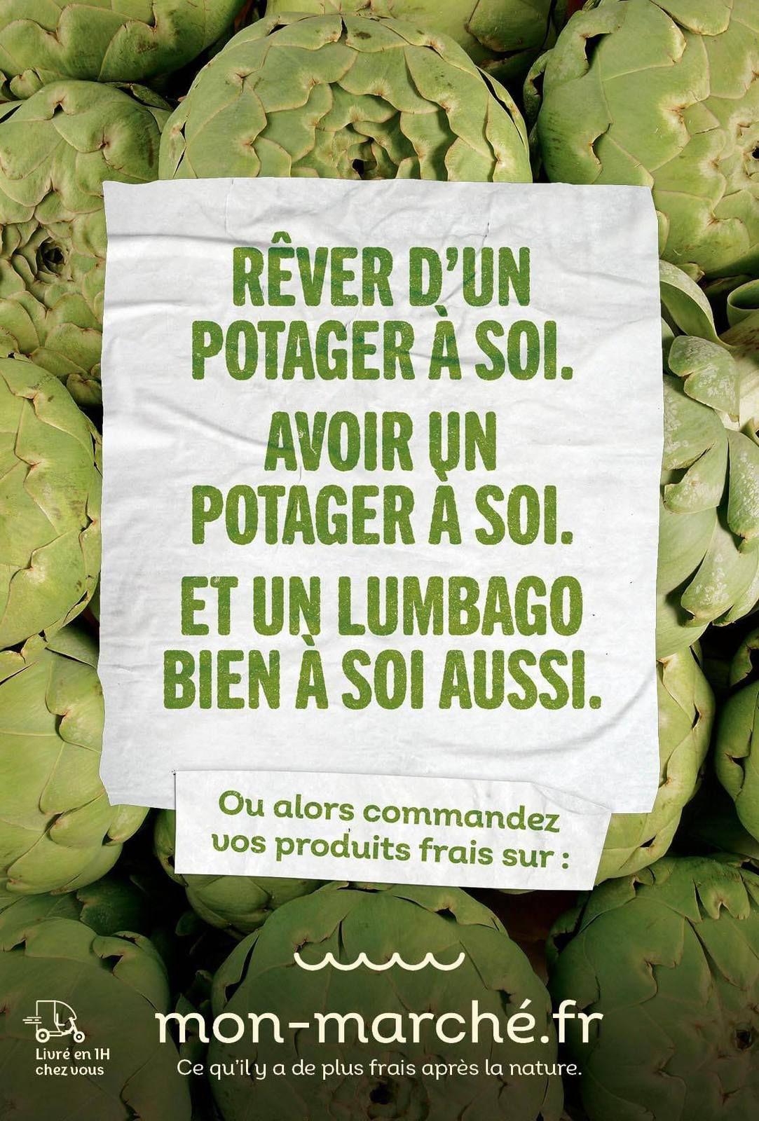 """mon-marché.fr : """"Ce qu'il y a de plus frais après la nature"""" I Agence : Buzzman, Paris, France (août 2020)"""
