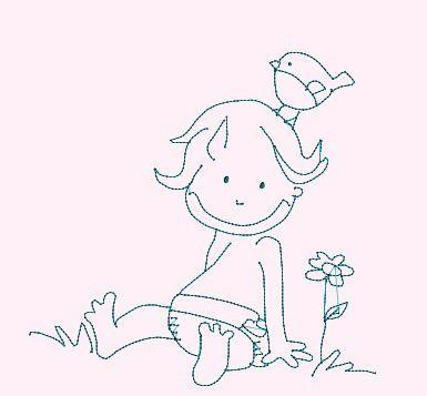 Bébé rieur et son oiseau