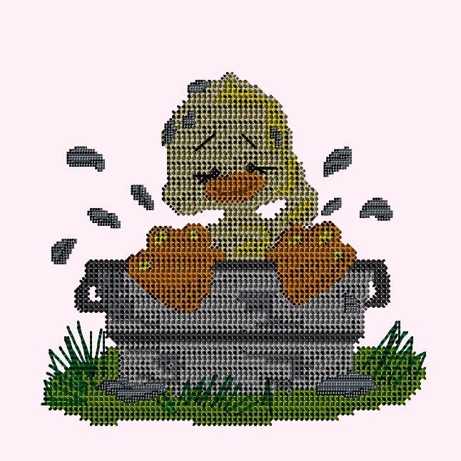 Un petit canard en point de croix