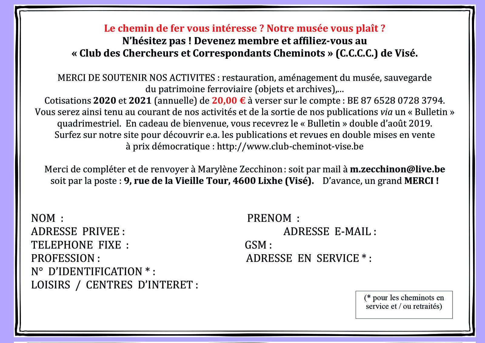 Bulletin d'affiliation au C.C.C.C.