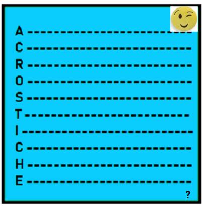 MEDICAMENT ! Option supplémentaire : ACROSTICHE ! Pour mercredi 4 juillet - Lenaïg