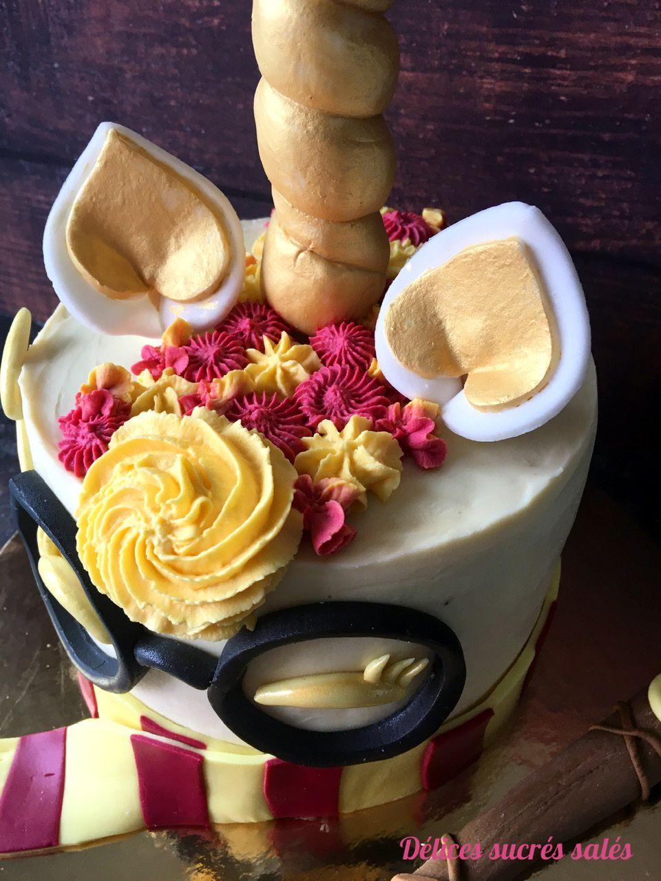 Gâteau Licorne Harry Potter
