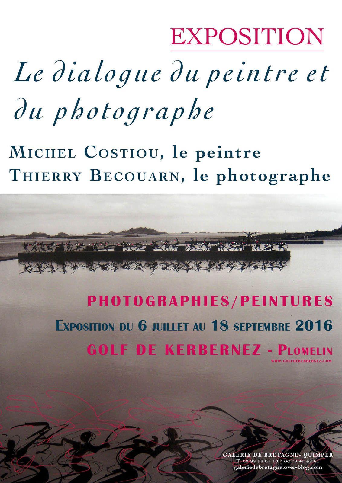 le dialogue du peintre et du photographe #Plomelin