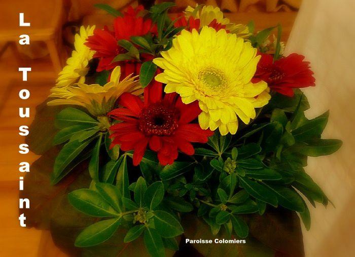 bouquet fleurs ; paroisse Colomiers