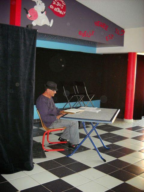 Bruno, chômeur depuis plus d'un an dans une pièce de théâtre à la soirée 11/10/2014