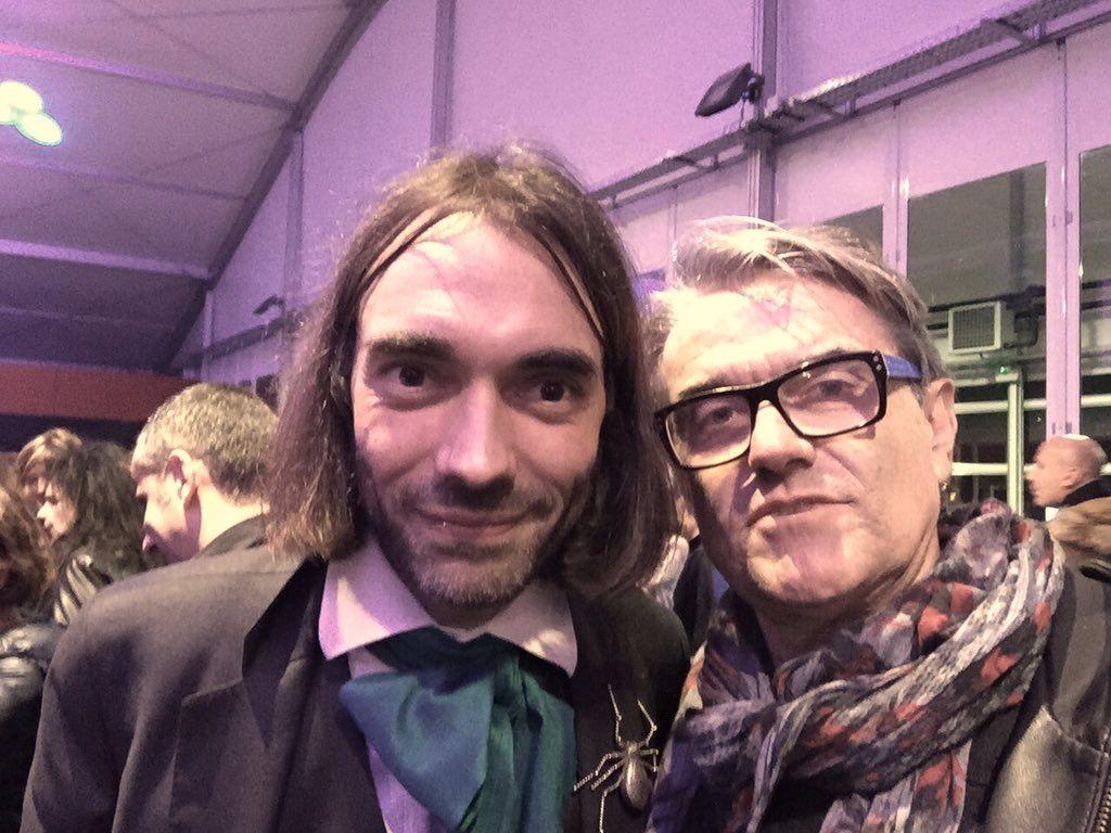 Cédric Villani et Pierre Cabaré au meeting Macron Lyon