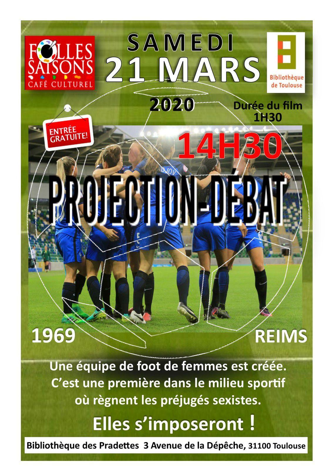 SAMEDI 21 MARS 2020  14h30 Bibliothèque des Pradettes Projection-débat