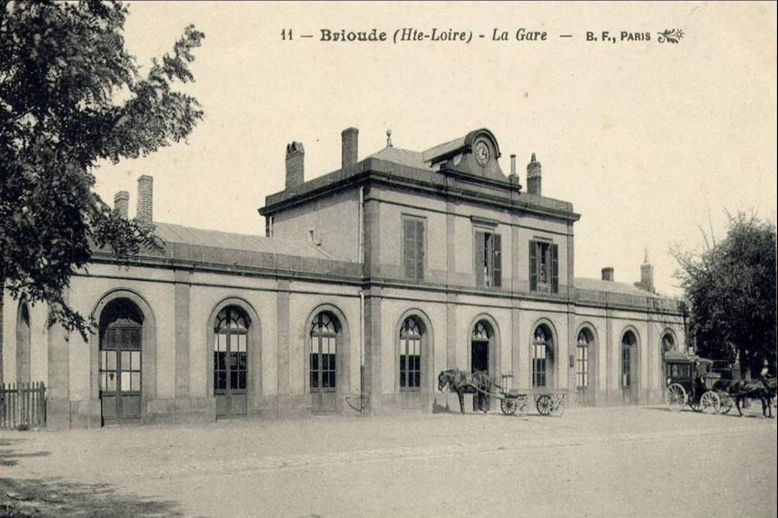 La gare de Brioude le Départ