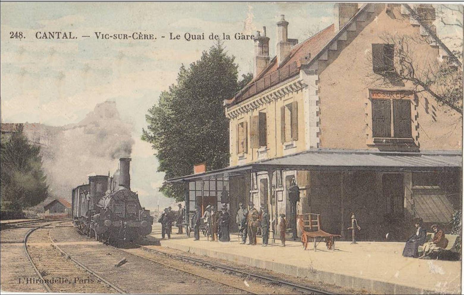 Les gares d'Auvergne: Vic sur cère Cantal