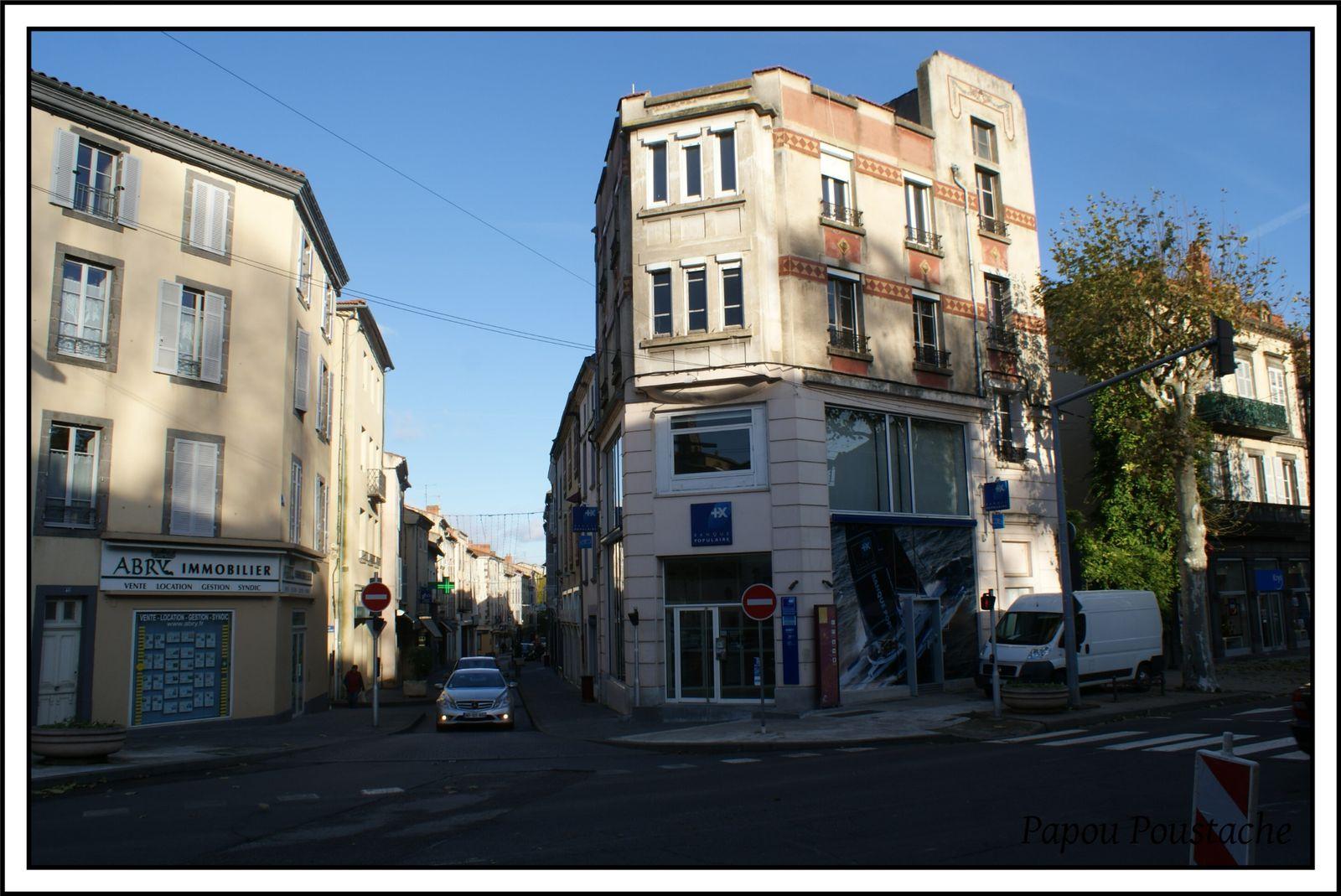 Le grand boulevard à Brioude