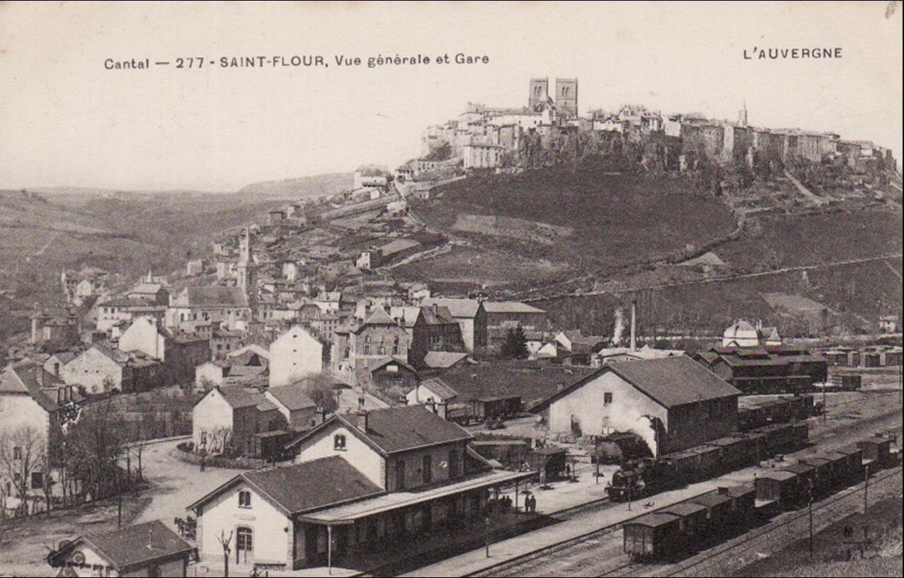 Quartier de la gare à St Flour