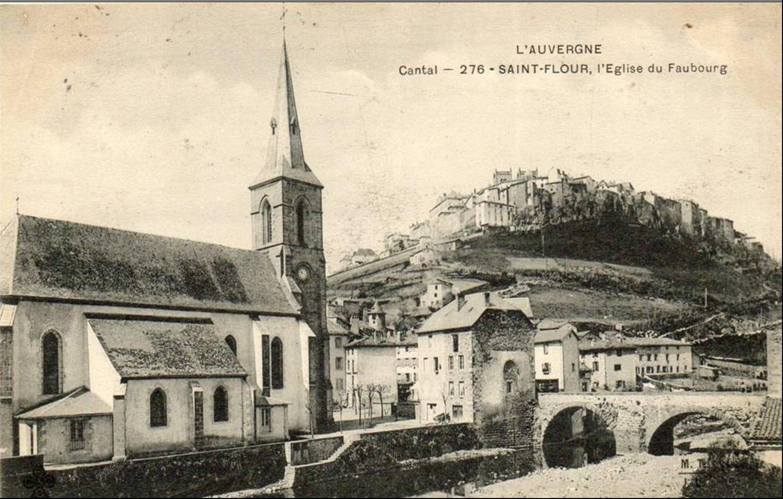Le quartier de l'église au bas de Saint Flour et le Lander