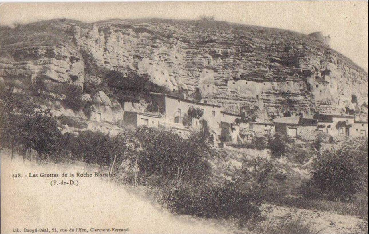 Les grottes troglodytes de la Roche Blanche