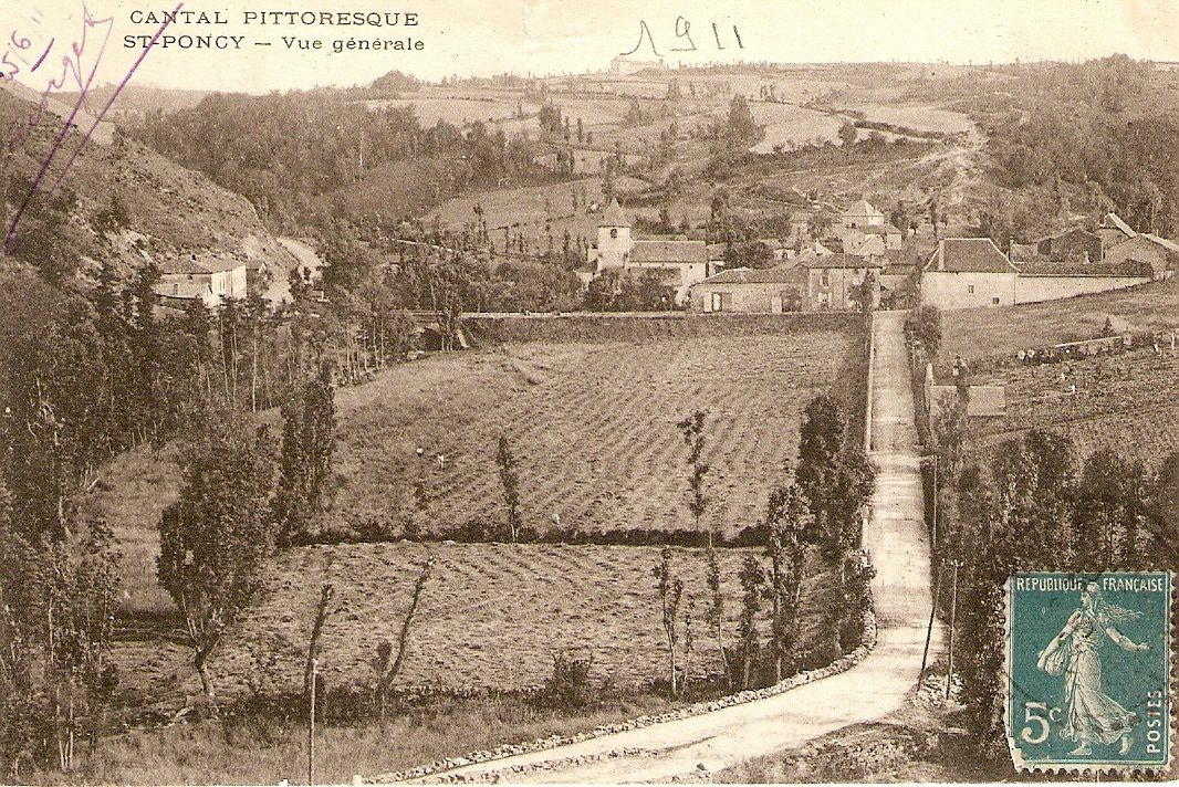 Cartes postales anciennes du Cantal: St Poncy