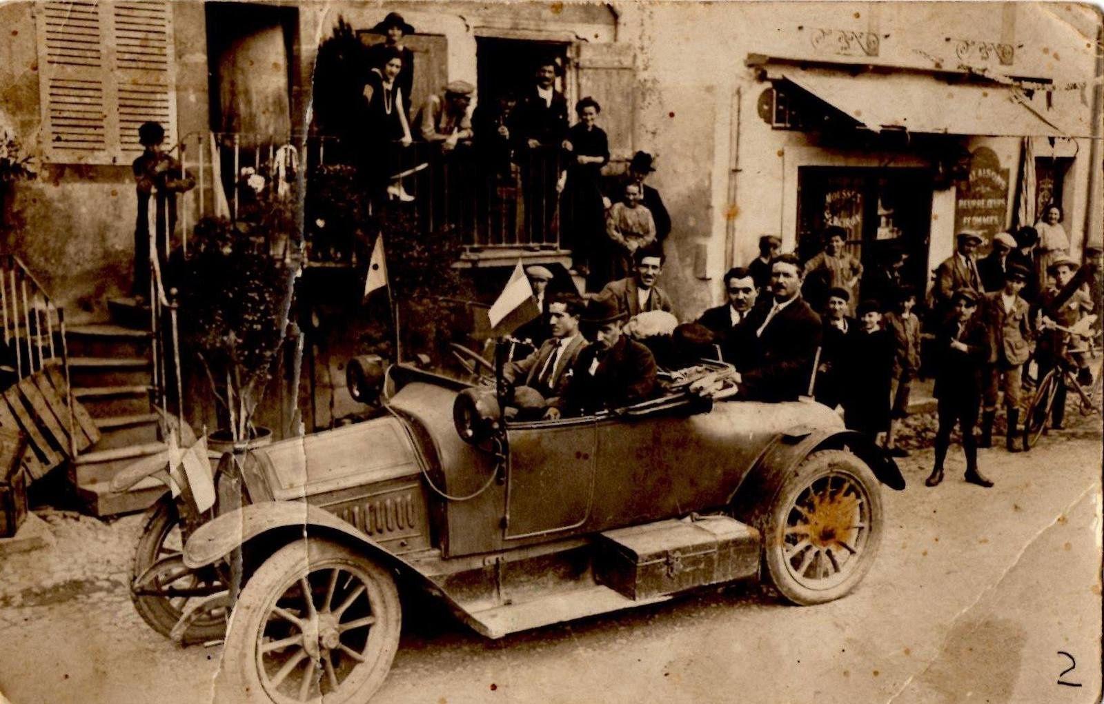 Course cycliste en Auvergne en 1905