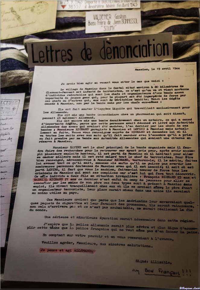 Musée de la résistance à Frugières le pin