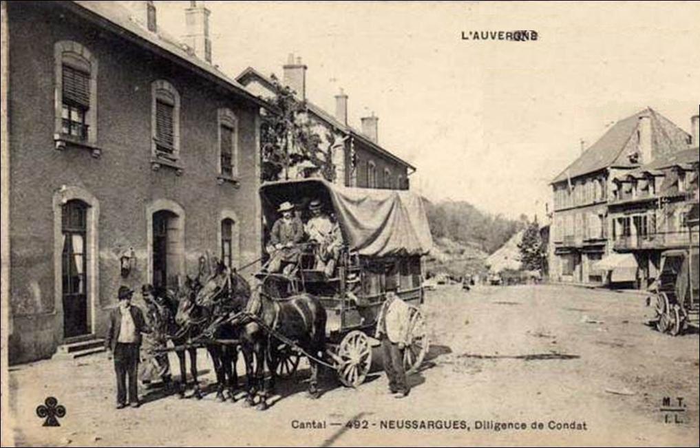 le courrier dans le Cantal en 1900
