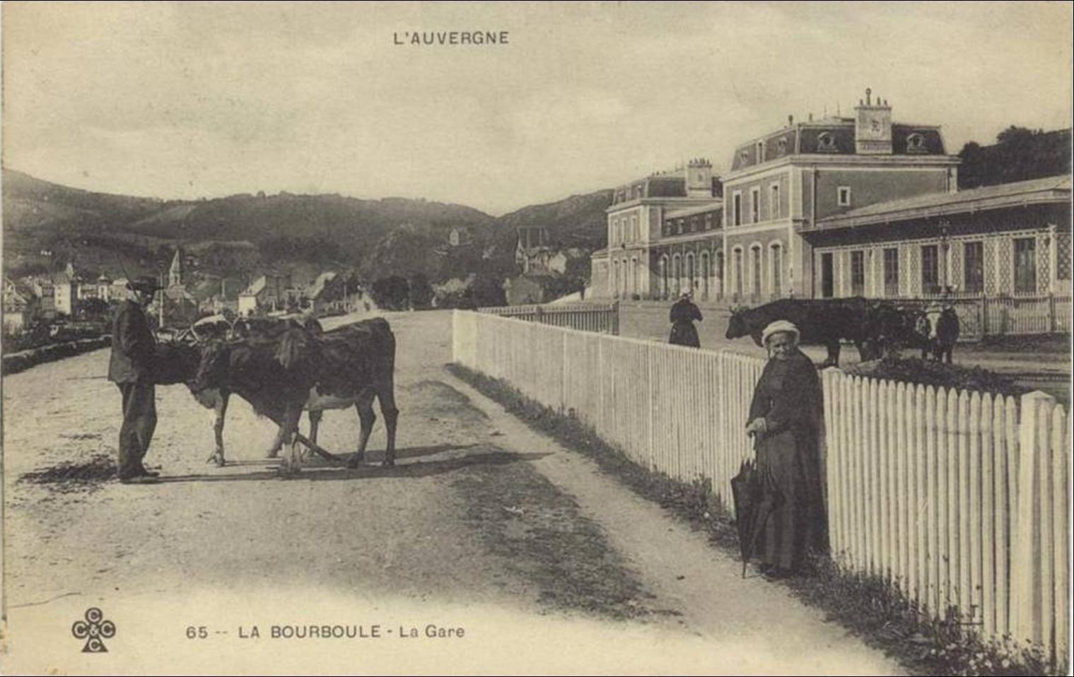 Autour de la gare à la Bourboule