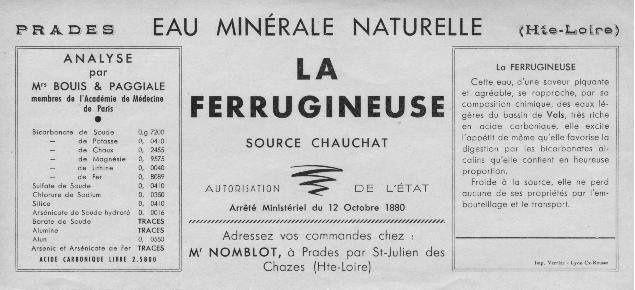 Sources oubliées :Source à Prades près de St Julien des Chazes