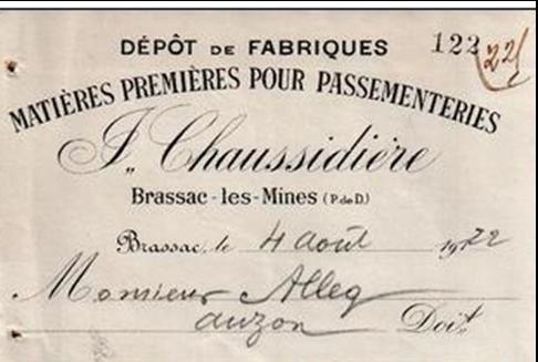La passementerie à Brassac les Mines