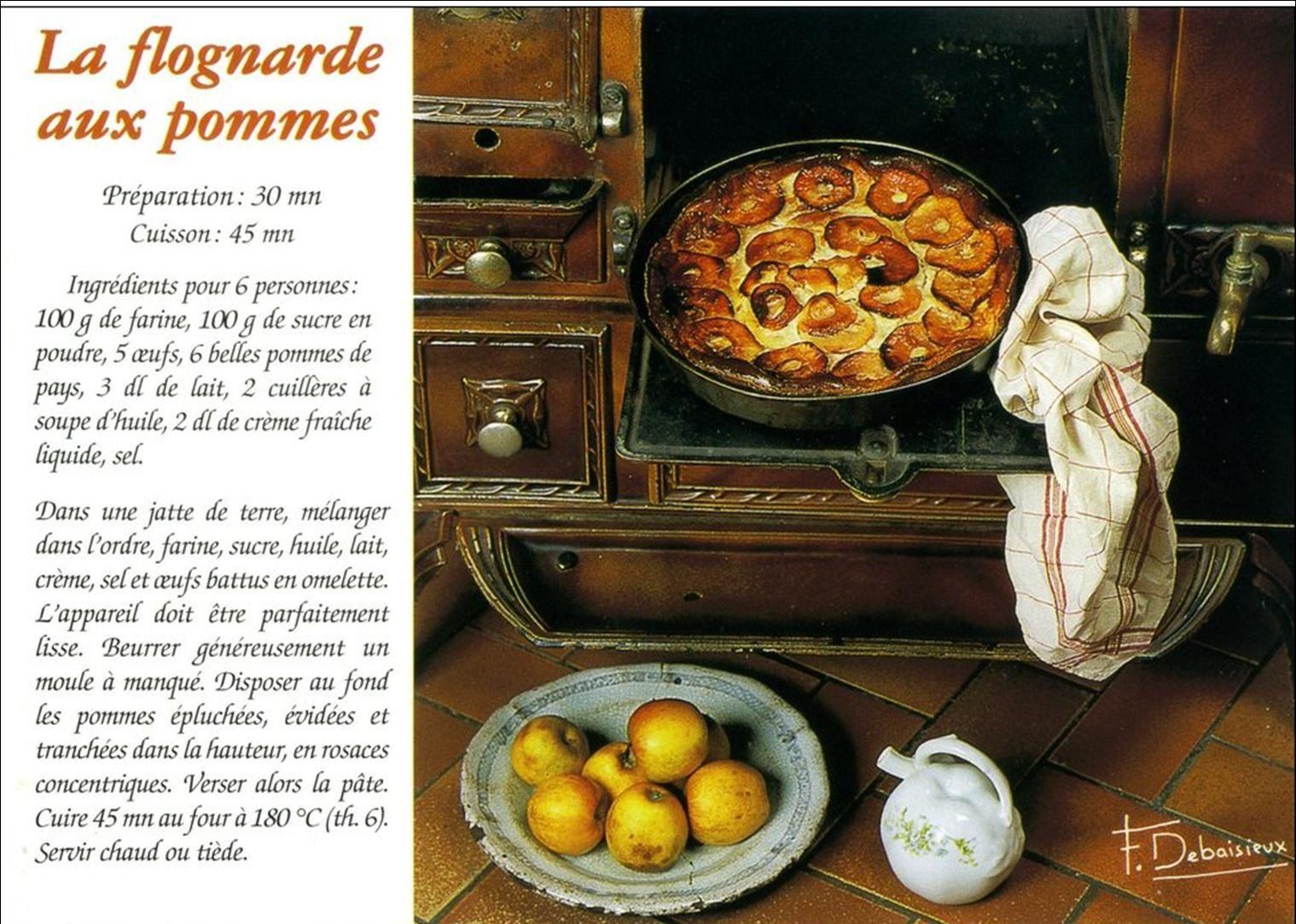 Recette traditionnelle Auvergnate:La Flognarde
