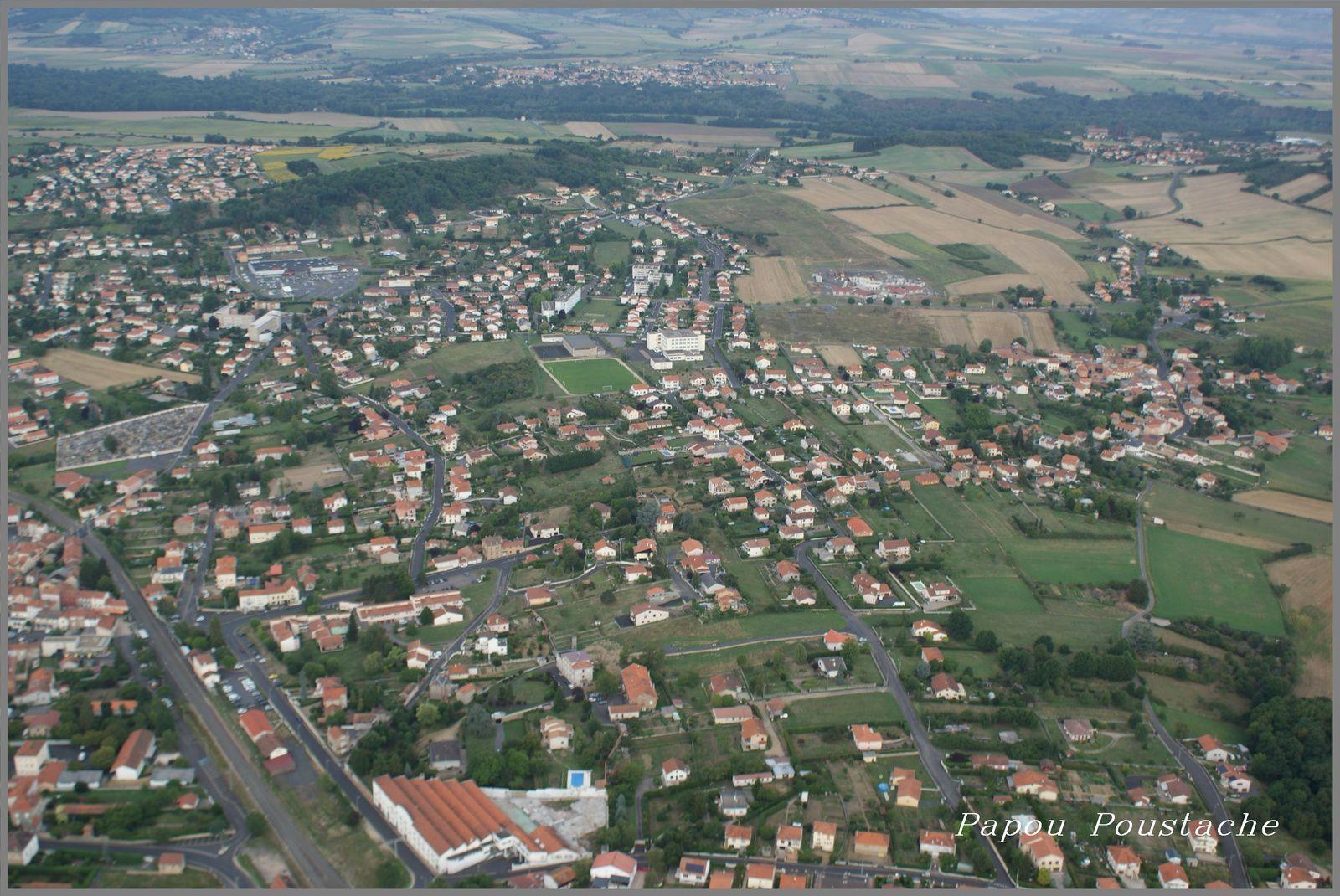 Vue aérienne de Brassac les Mines