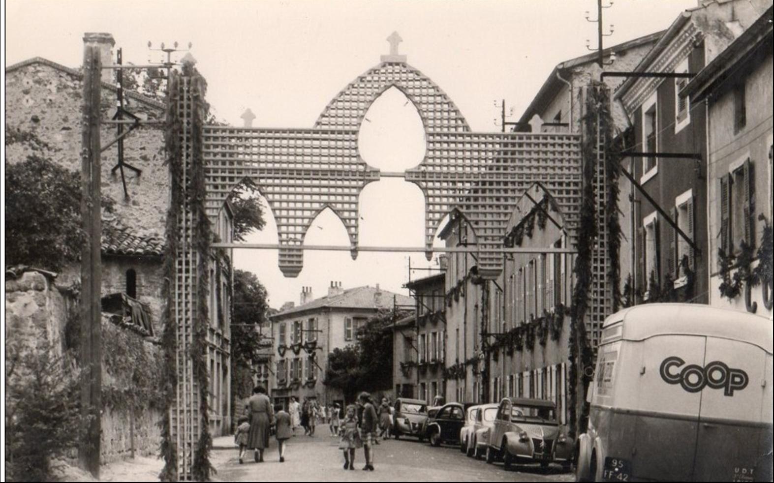 Monistrol sur Loire aux années 1950-60