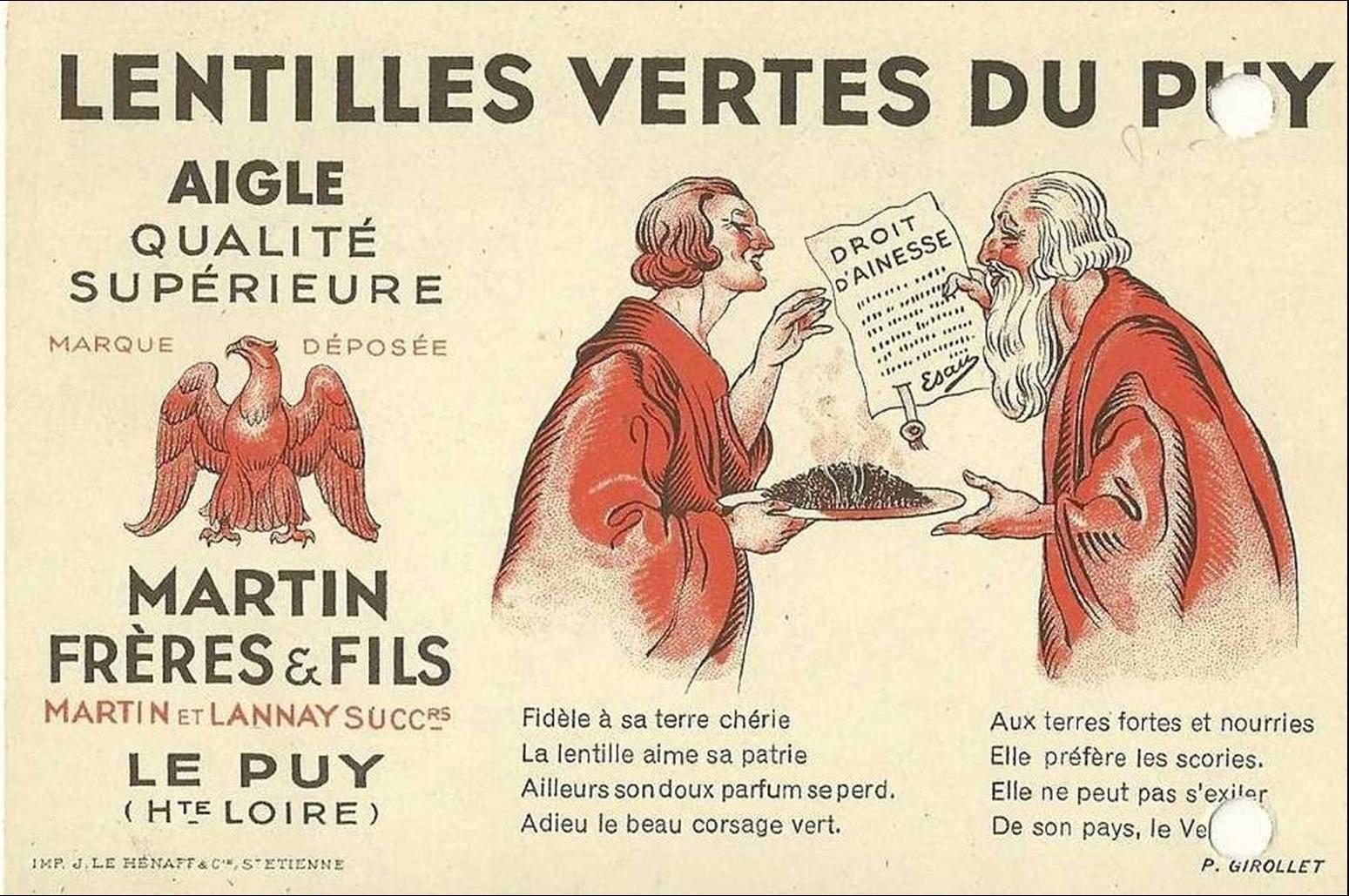 Auvergne:La lentille du Puy