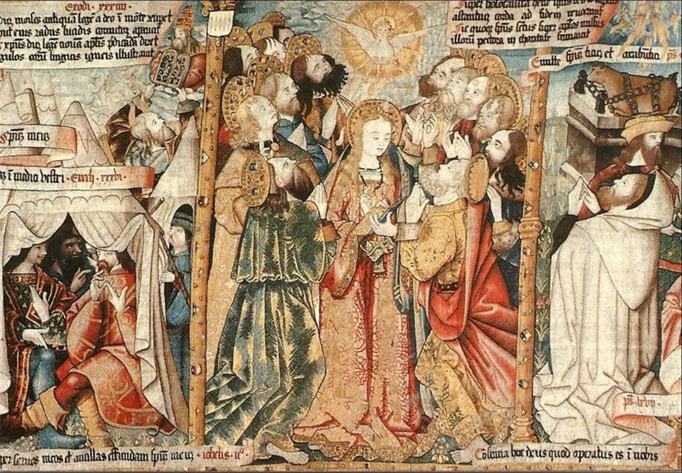 Illustration tapisserie de la Pentecôte à la Chaise Dieu