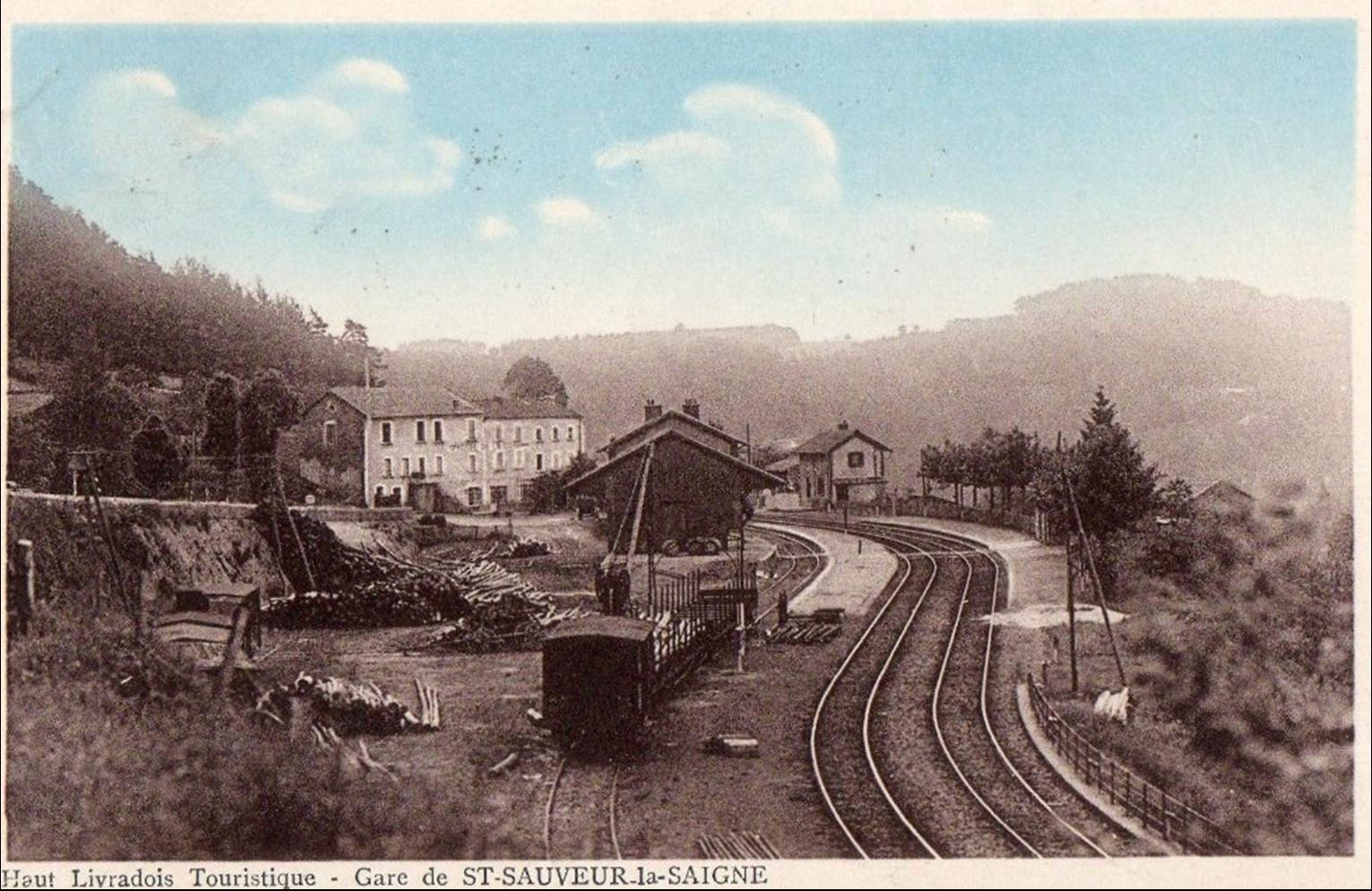 La gare de Saint Sauveur La Sagne