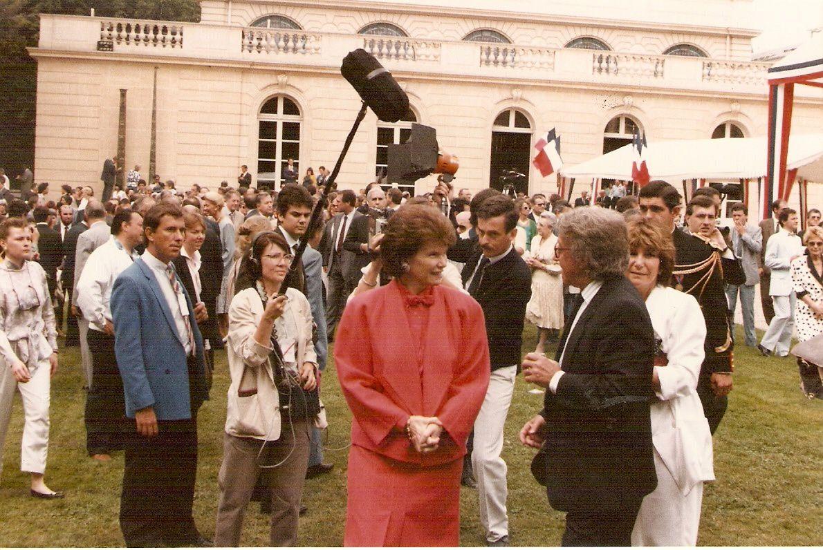 Valz et Francois Mitterrand