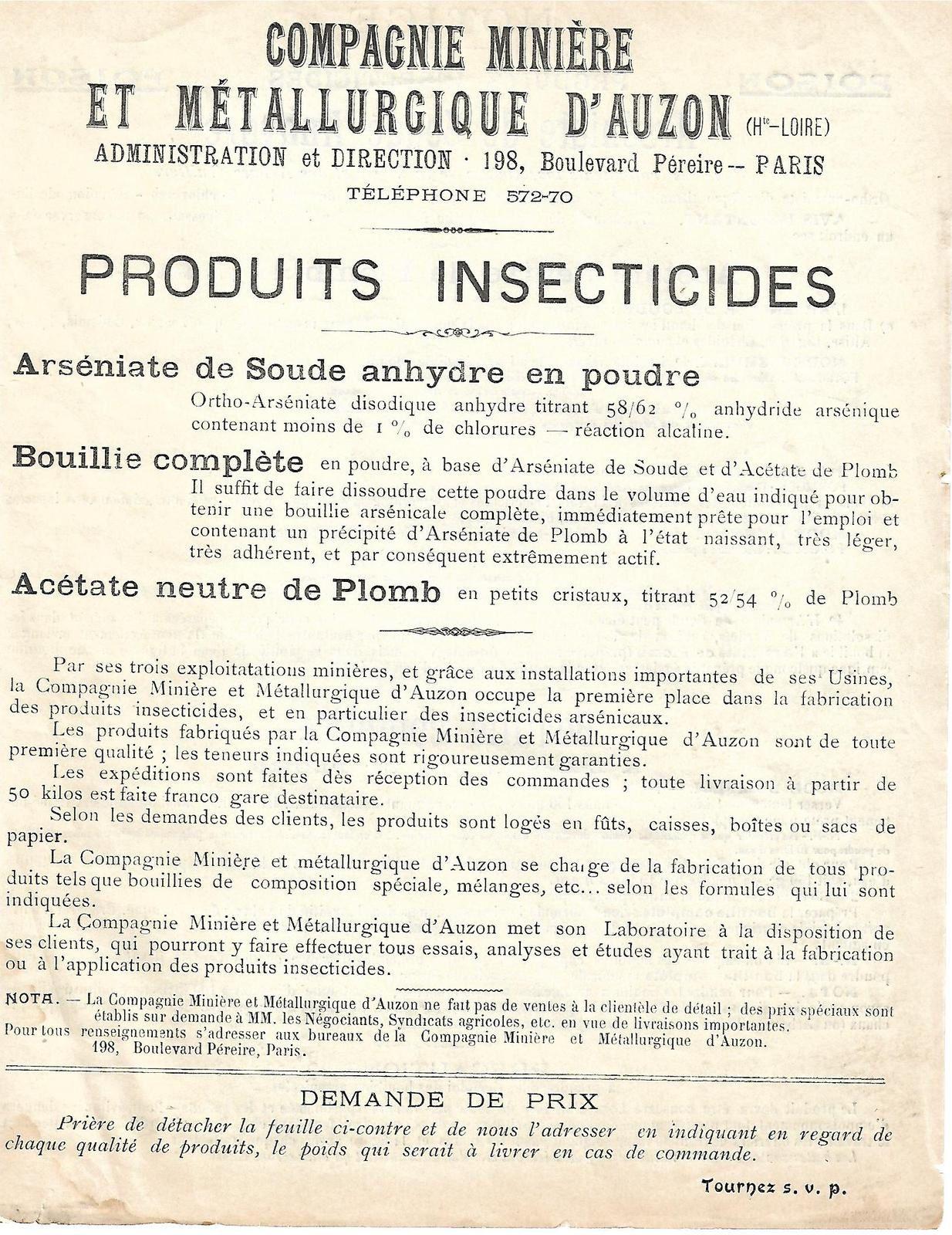 Auvergne industrielle d'autrefois:Usine d'arsenic à Auzon(43)