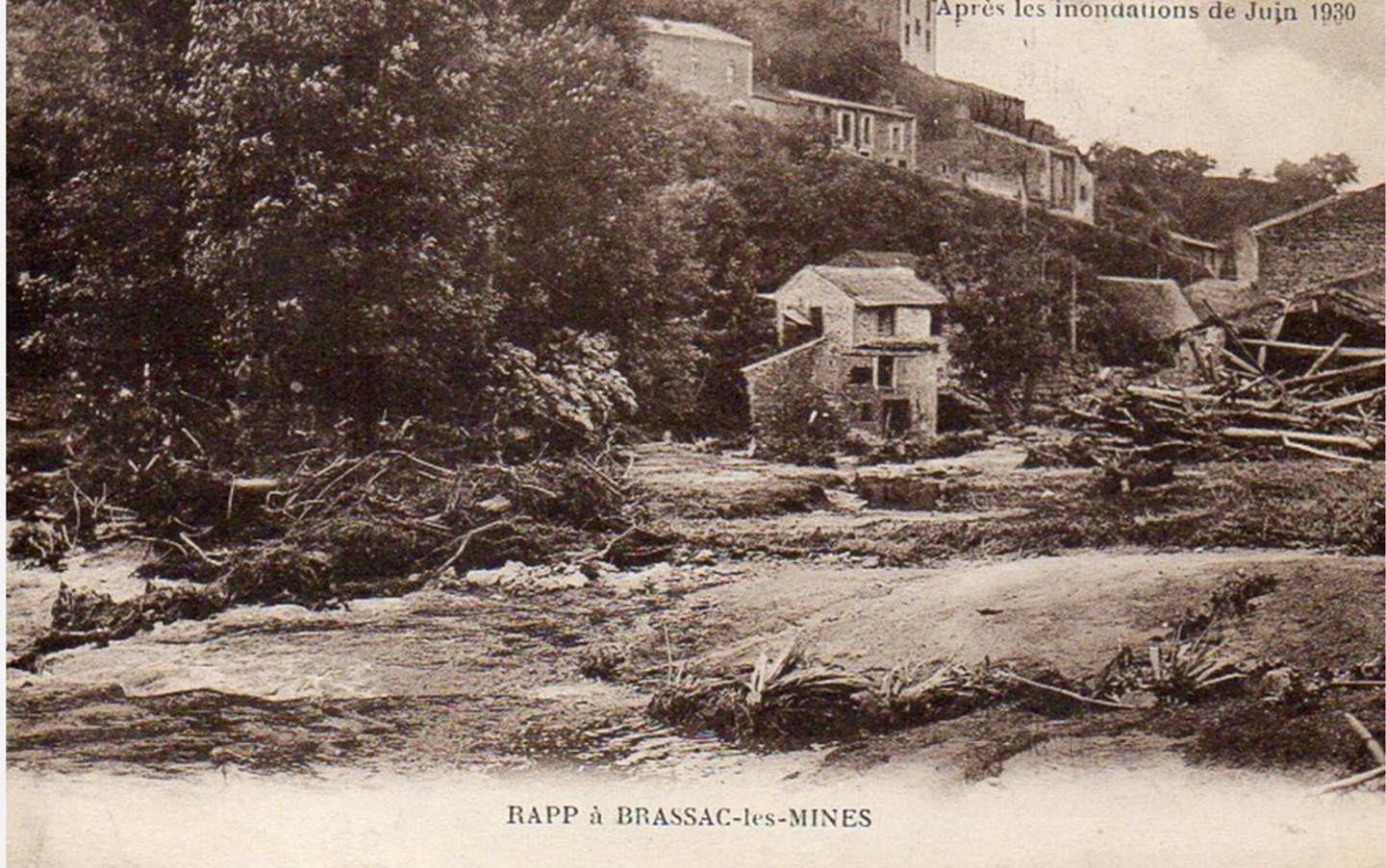 Trombe d'eau à Auzon le 16 Juin 1930
