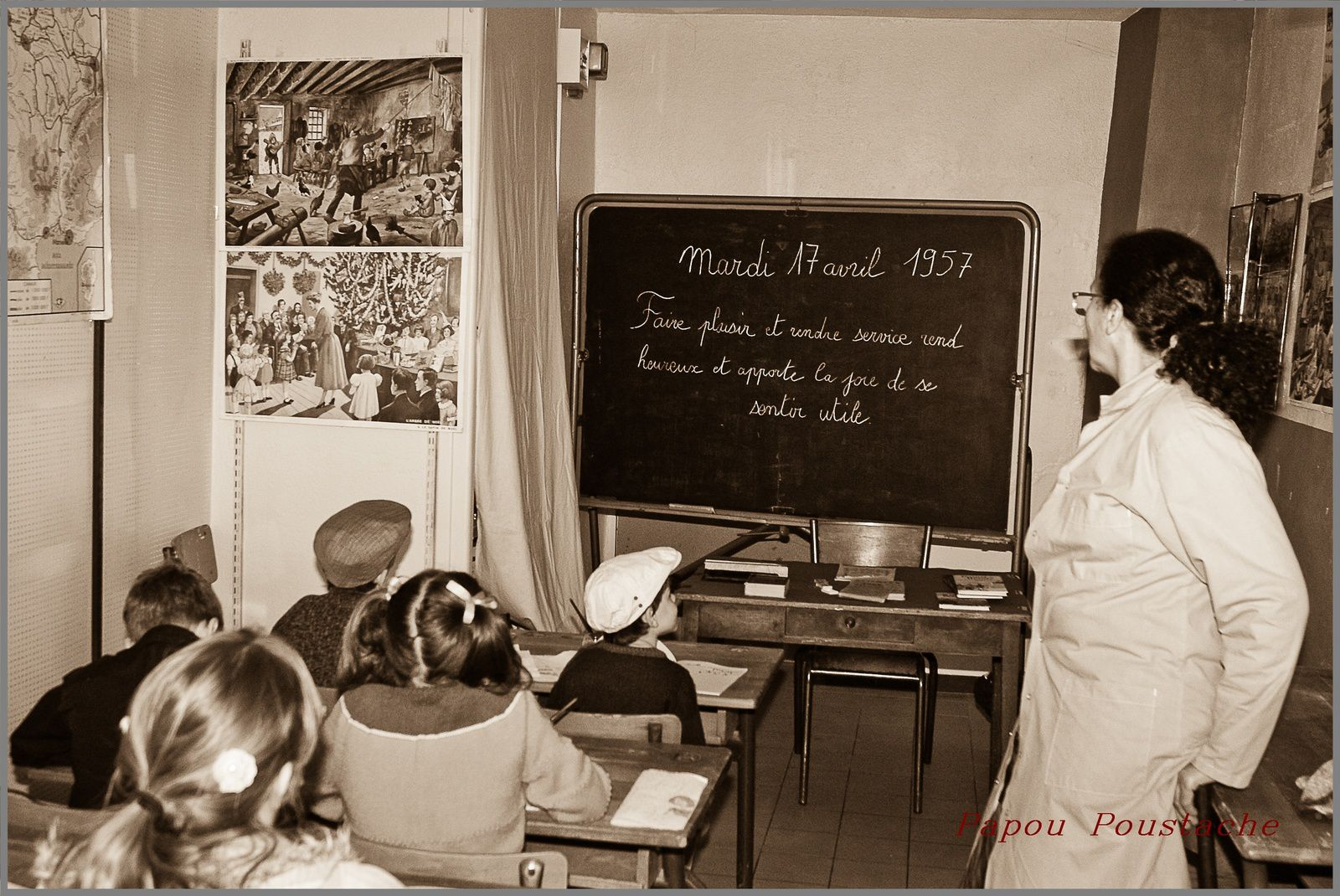 Auzon aux années 1950-65