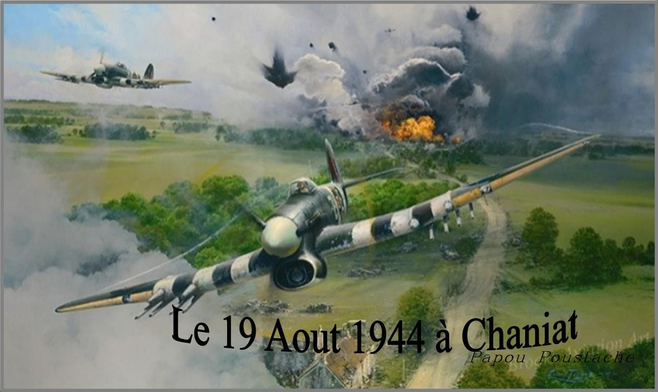 Raid aérien au dessus de la commune d'Auzon en Août 1944