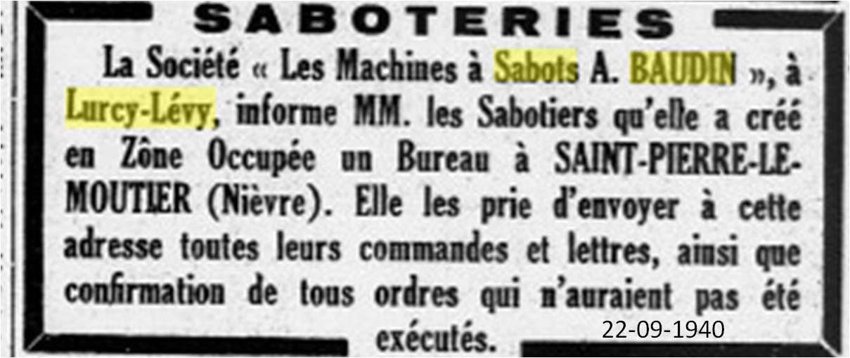 Menuiserie saboterie