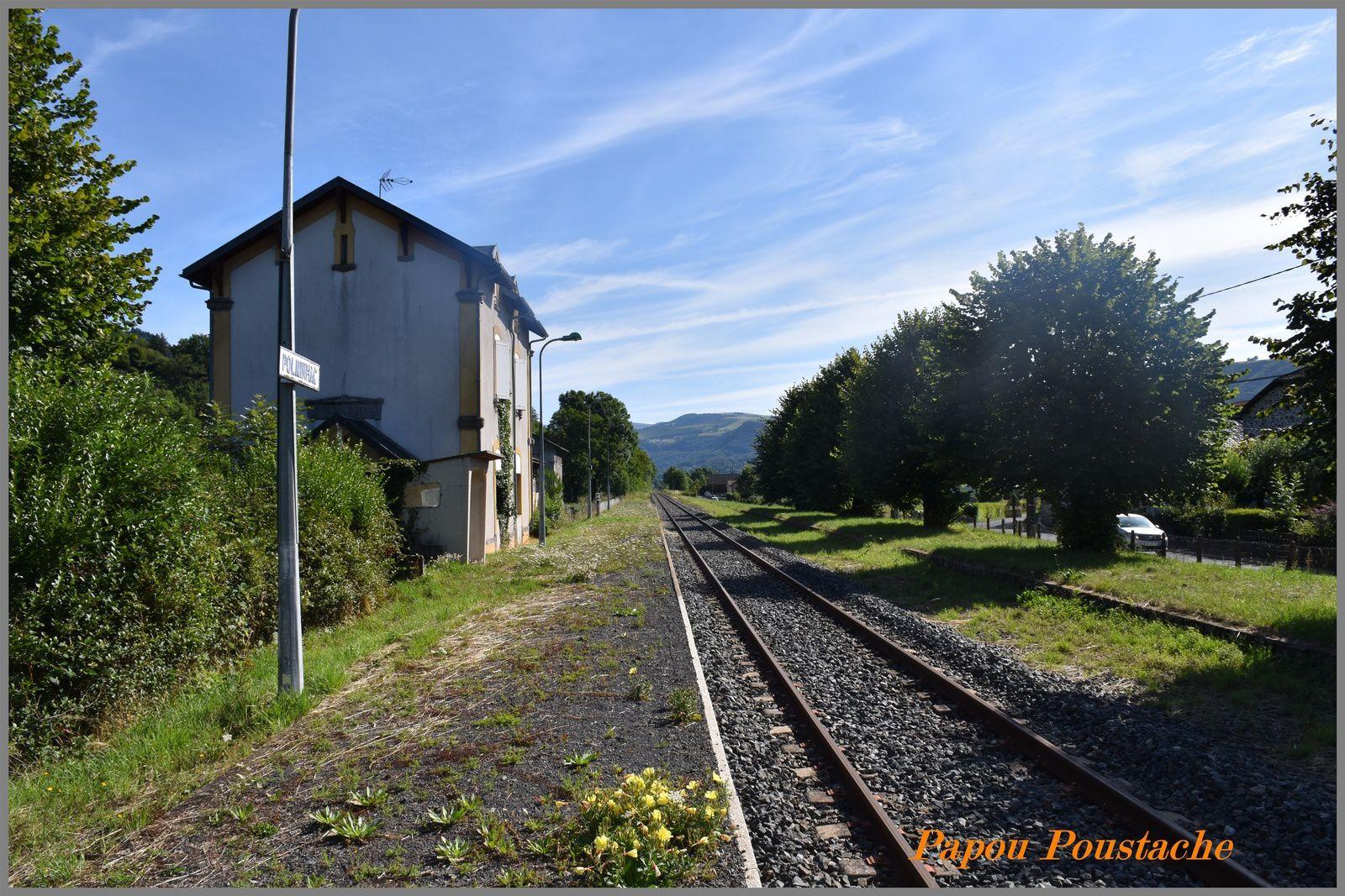 La gare de Polminhac