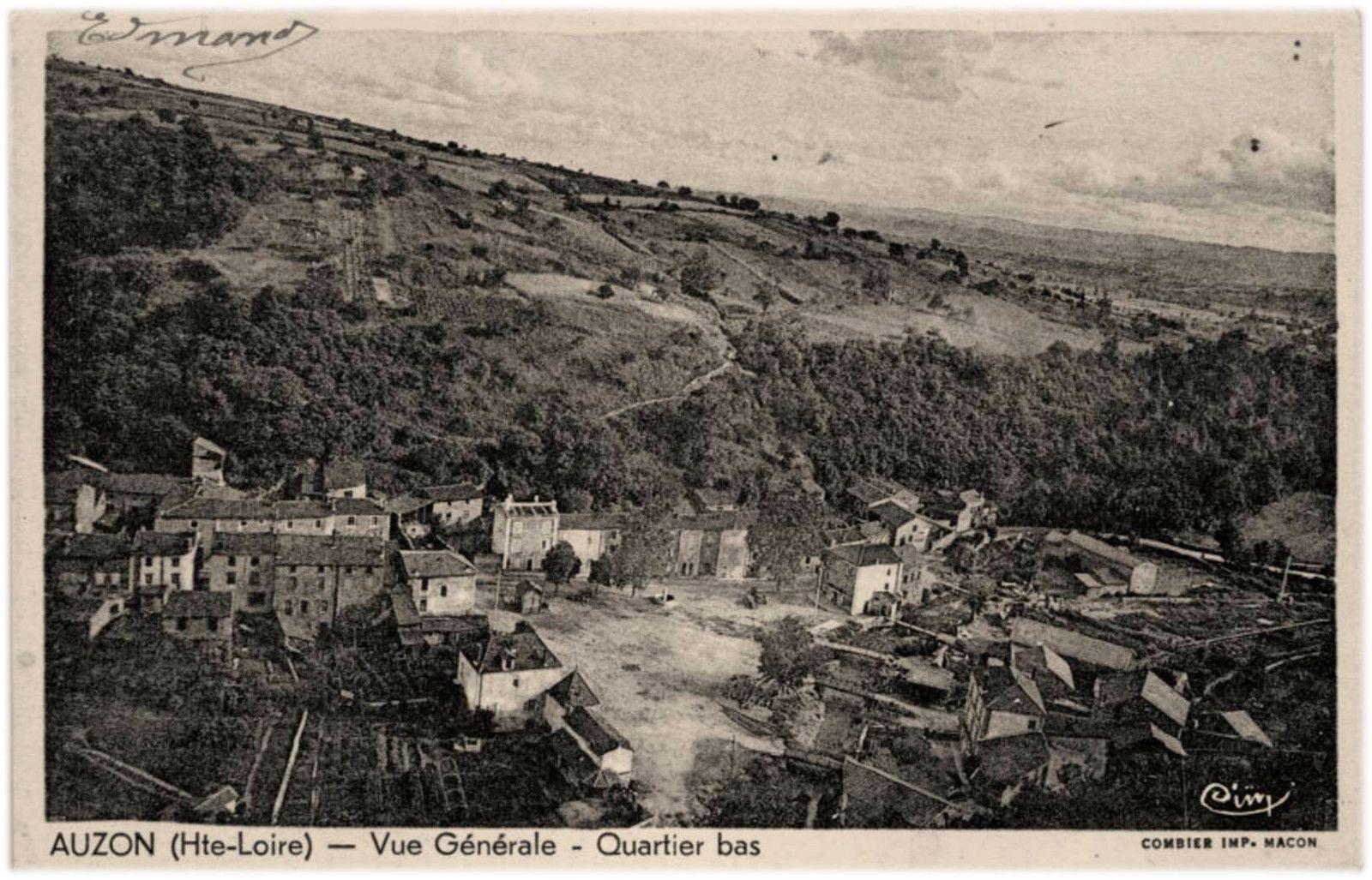 Auzon 1900 à 1942 en photos