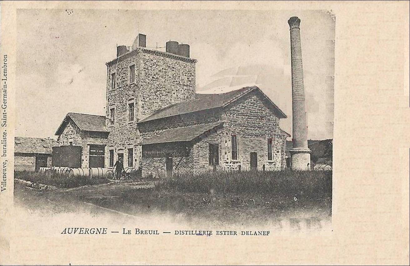 Ancienne distillerie de betteraves au Breuil sur Couze