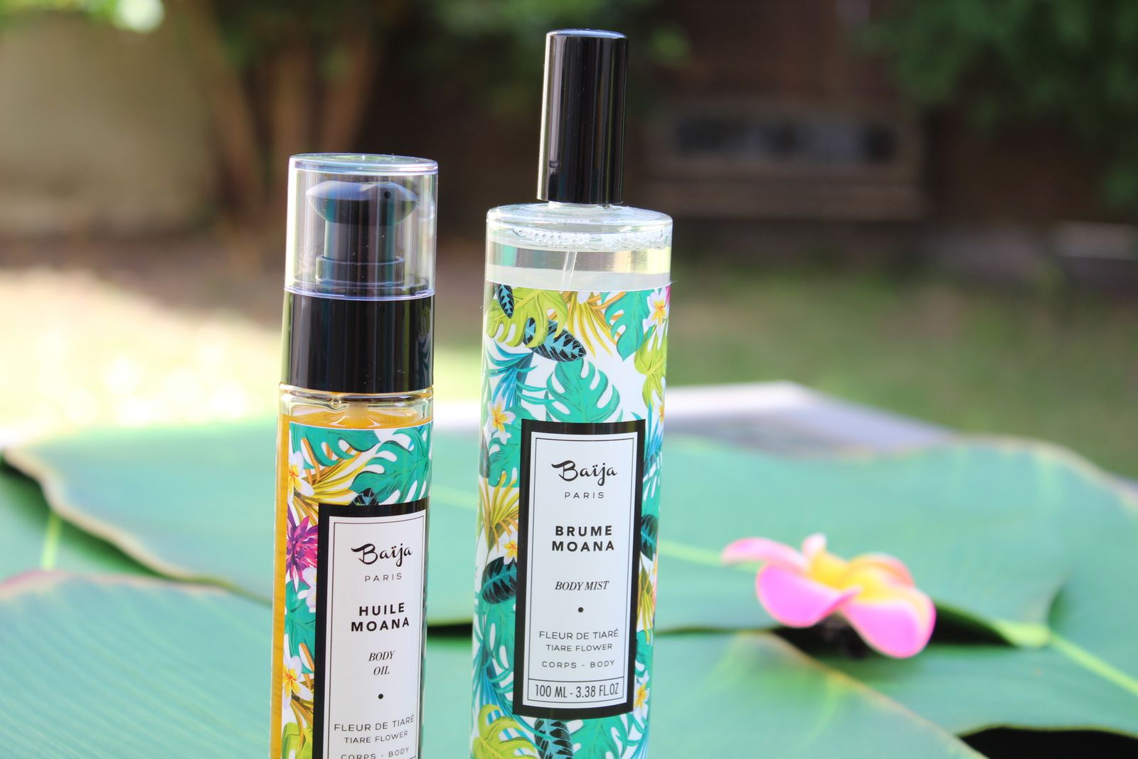Brume parfumée et huile de soin Moana de Baïja